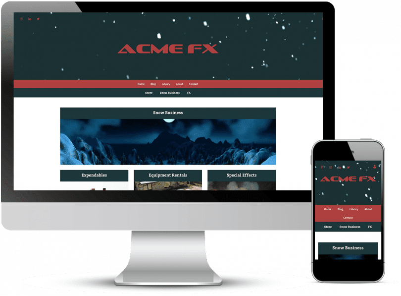 device view of Acme FX's website